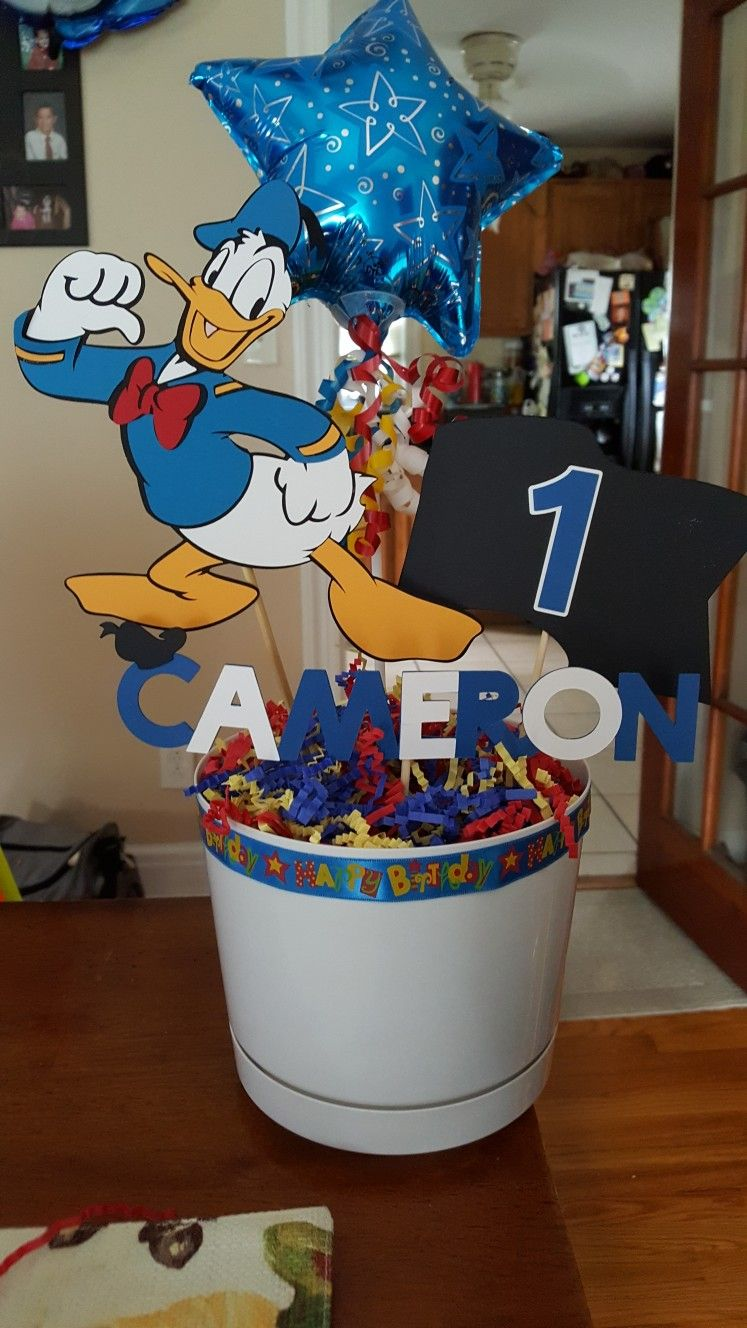 Pin By Andrea Goldstein On Donald Duck First Birthday Party Decorations First Birthday Party Decorations Kids Birthday Party Donald Duck Party