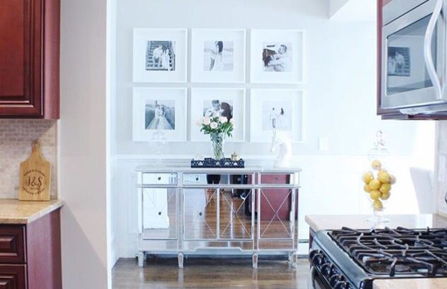 wall gallery with ikea ribba frames and 12 x 12 costco prints