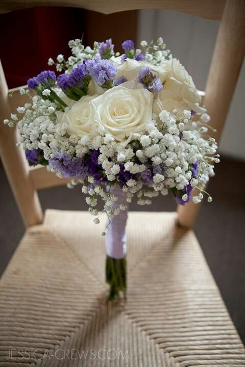 Make Your Own Wedding Bouquet Baby S Breath Statice White Roses From Wegmans Rustic
