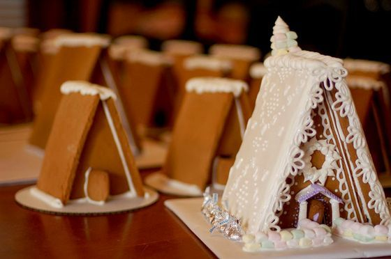 a frame gingerbread house template  Gingerbread A-Frame Houses -- easier!! | Christmas ...