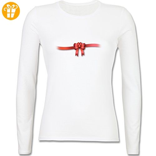 Valentinstag - Ich bin ein Geschenk - Schleife - XXL - Weiß - BCTW013 -  tailliertes