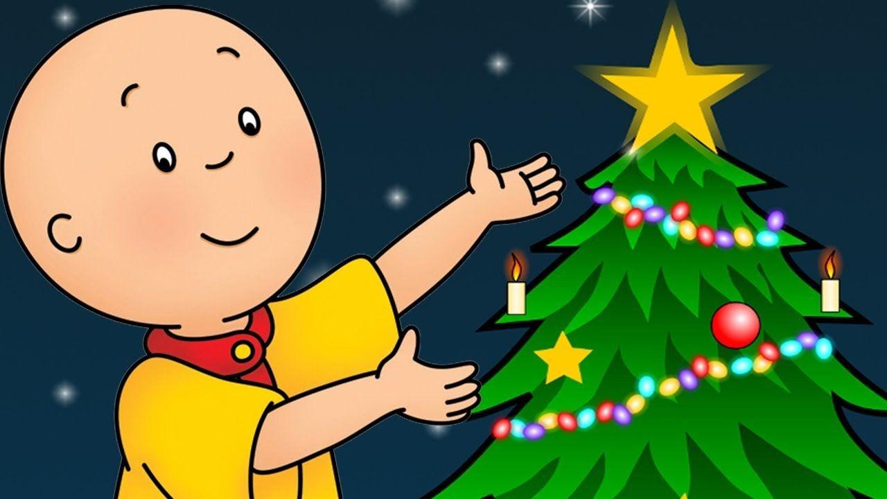 Caillou Français Noël Approche Dessin Animé Noël Histoire Noël