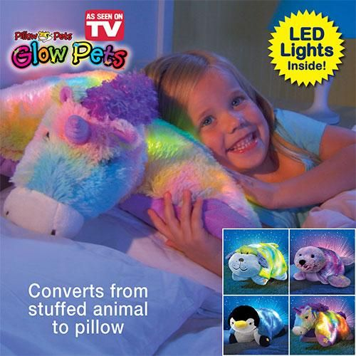 Glow Pets Light Up Stuffed Animal Pillow Toy From The Makers Of Pillow Pets Just 29 98 Animal Pillows Pets Taylor Gifts
