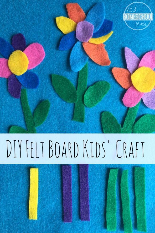 The editors of publications international, ltd. Felt Board Flower Craft Felt Crafts Kids Flower Crafts Spring Crafts For Kids