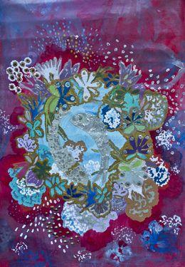 "Saatchi Online Artist Lia Porto; Painting, ""Red love in blue ocean (Amor rojo en el mar azul)"" #art"