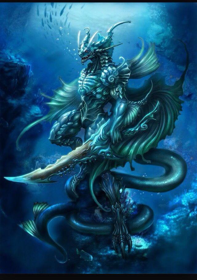 Water person humanoid | Dragon warrior, Fantasy dragon ...