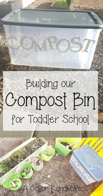Building Our Compost Bin For Toddlers. Gardening With Kids. DIY Kitchen  Scrap Compost Bin