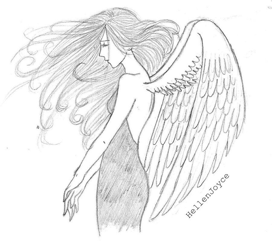 Angelic angel drawings in pencil bing images