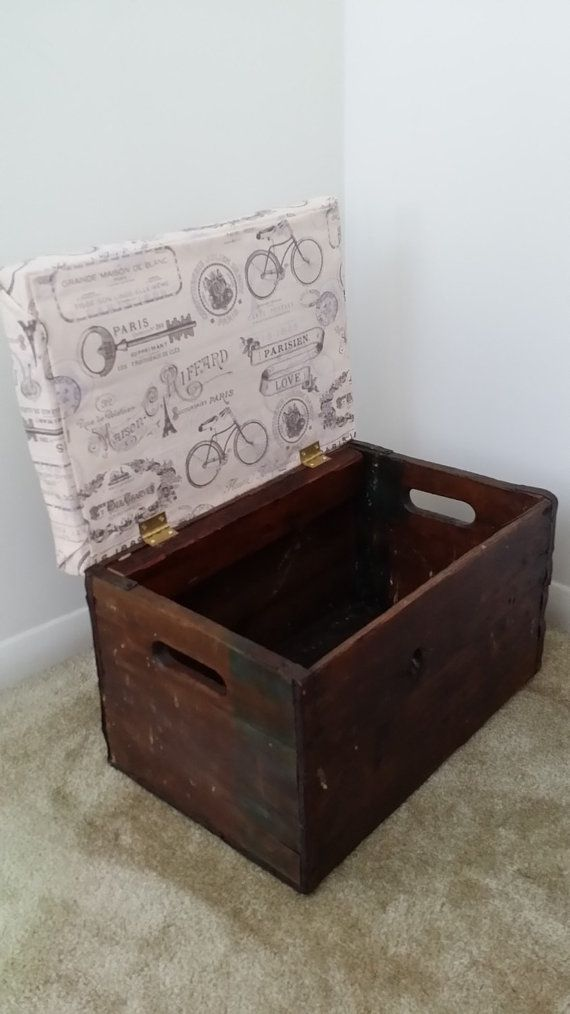 Vintage wood crate ottoman | IDEAS by Peter Modder | Pinterest ...