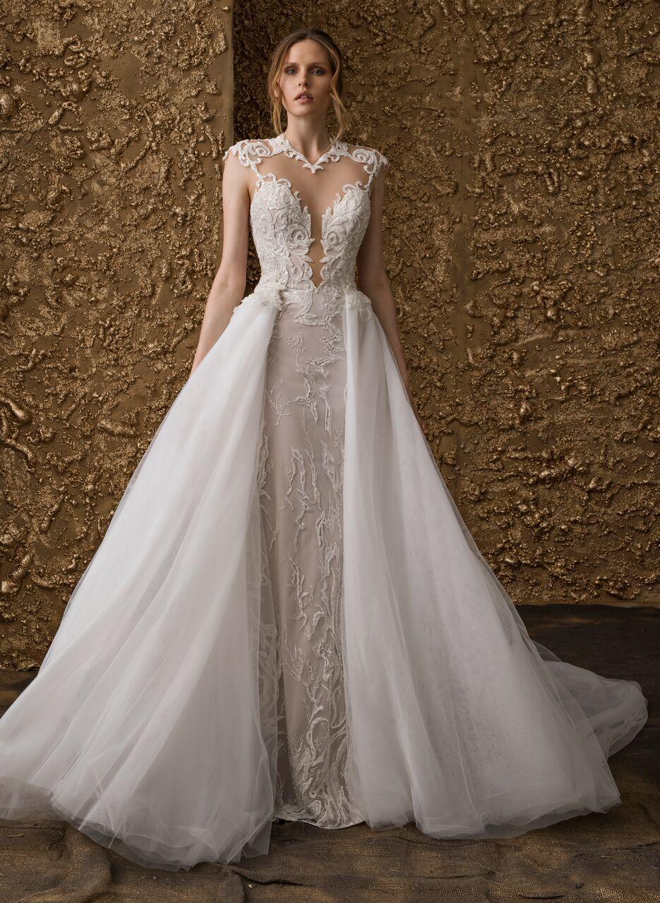 Nurit Hen Wedding Dress 2018 Collection Golden Touch Wedding Dresses Elegant Wedding Dress Bohemian Style Wedding Dresses