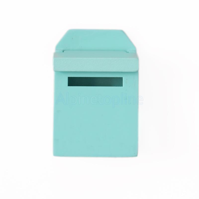 1//12 Dollhouse Miniature Garden Furniture Decor Wooden Mail Box Green