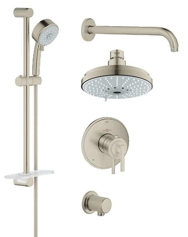 View the Grohe 35 056 GrohFlex Thermostatic Shower Faucet Package ...