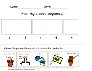 Planting A Seed Cut Paste Sequencing Activity Science