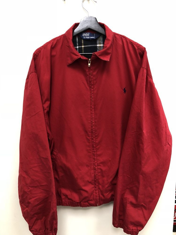 b066d7f150 Vintage Polo Ralph Lauren Golf Jacket Red Size L Free Shipping ...