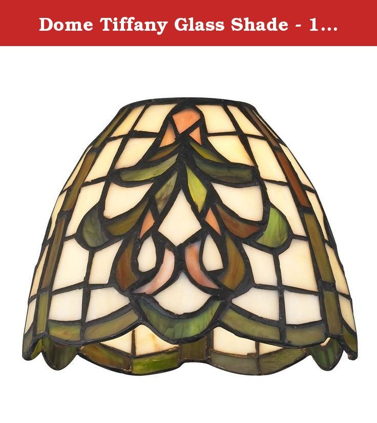 Dome Tiffany Glass Shade 1 5 8 Inch Fitter If You Re Looking For An Elegant Replacement Glass Shade That W Stained Glass Lighting Glass Shades Tiffany Glass