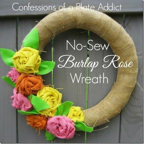 Photo of Easy No-Sew Fabric Wreath