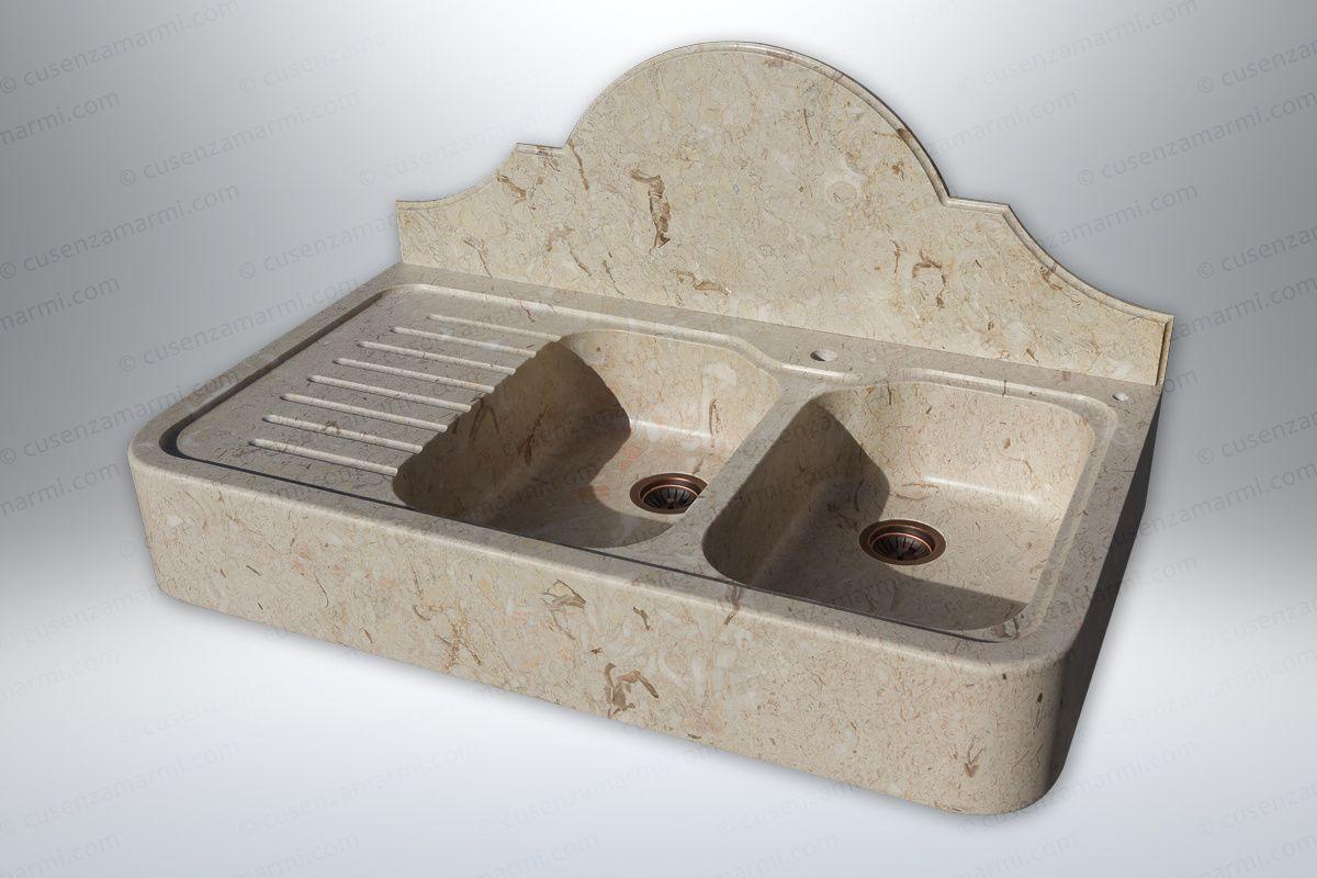 Lavandino Cucina Con Gocciolatoio lavandino in pietra con gocciolatoio mod. eryx | fregaderos