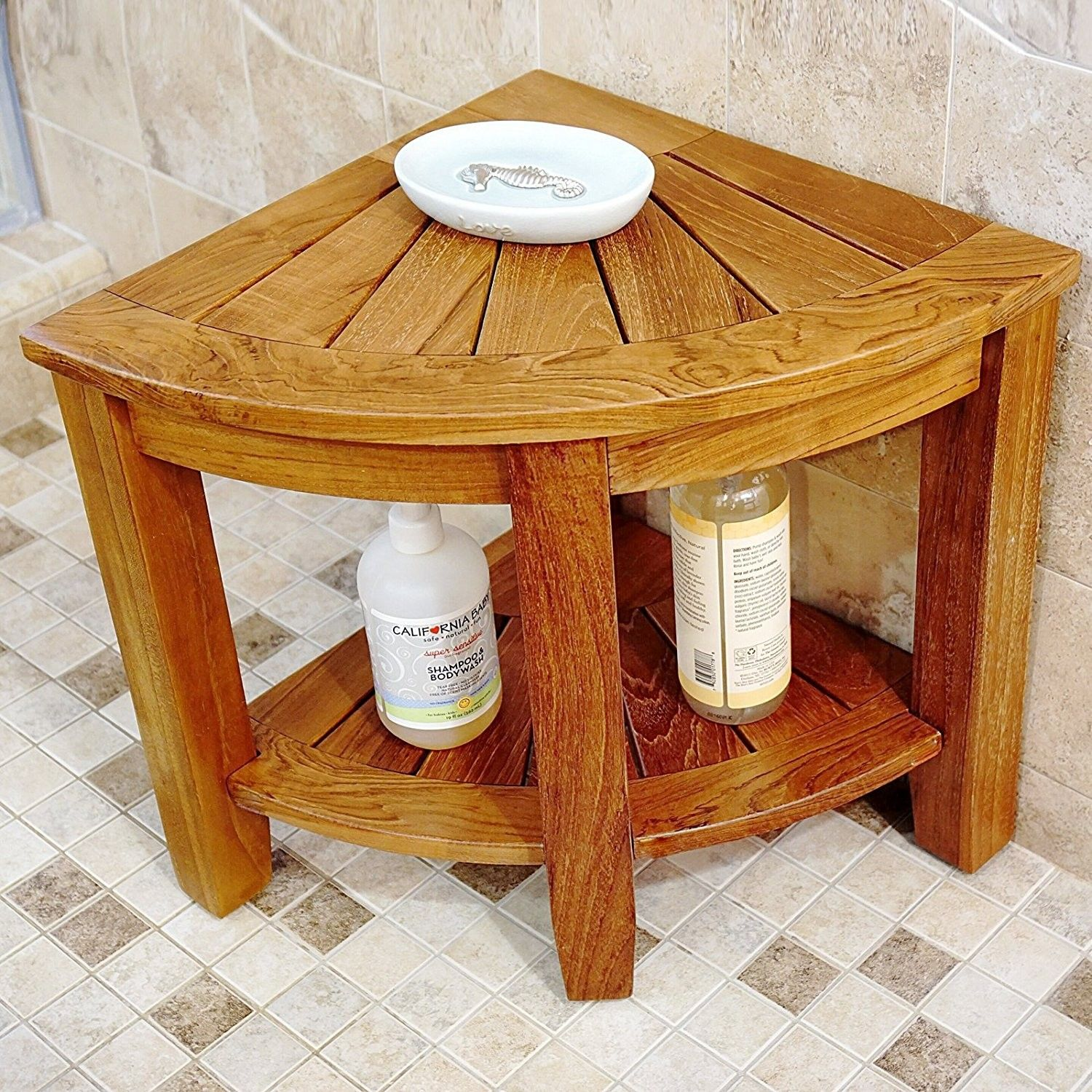 2 Tier Teak Shower Seat | Shower seat and Products