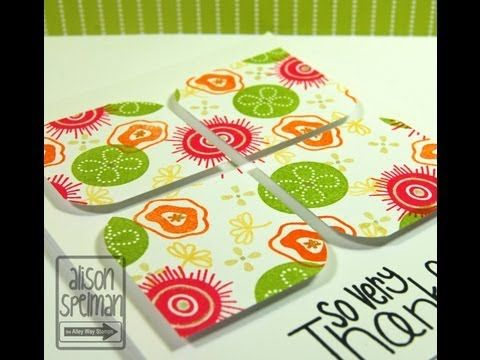 ▶ Why Wednesday? TAWS multi stamping flower card The Alley Way Stamps - YouTube