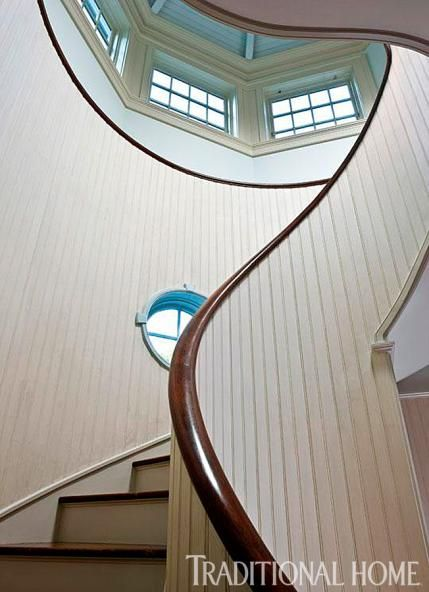 Shingle Style Capturing The View Staircase Design Beautiful Stairs Traditional House