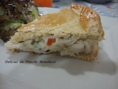 A receita de Empadão + perfeita que nasceu do nosso forno foi o casamento: Massa do Chef Álvaro Rodrigues + Recheio Palmito da Palmirinh...