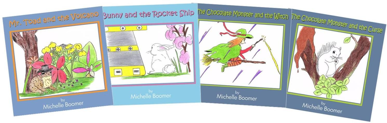 From Author Michelle Boomer Comes 4 Delightful Titles In This Series Of Small Colouring Books For Chi Book Publishing Companies Book Publishing Coloring Books
