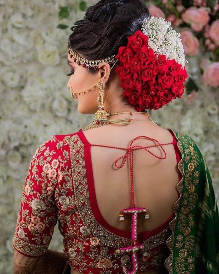 Pin by Amul Vaish on Bridal Hairstyles in 2020 | Bridal hair buns, Bridal bun, Indian bridal ...