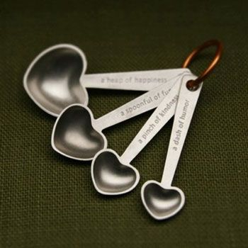 Made with love measuring spoons