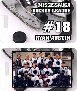 Custom Personalized Hockey Bag Tags Team Gifts Hockey Bag Team Gifts Hockey Team Gifts
