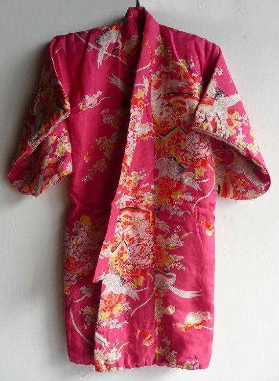 Vintage Kimono, light cotton padded kimono