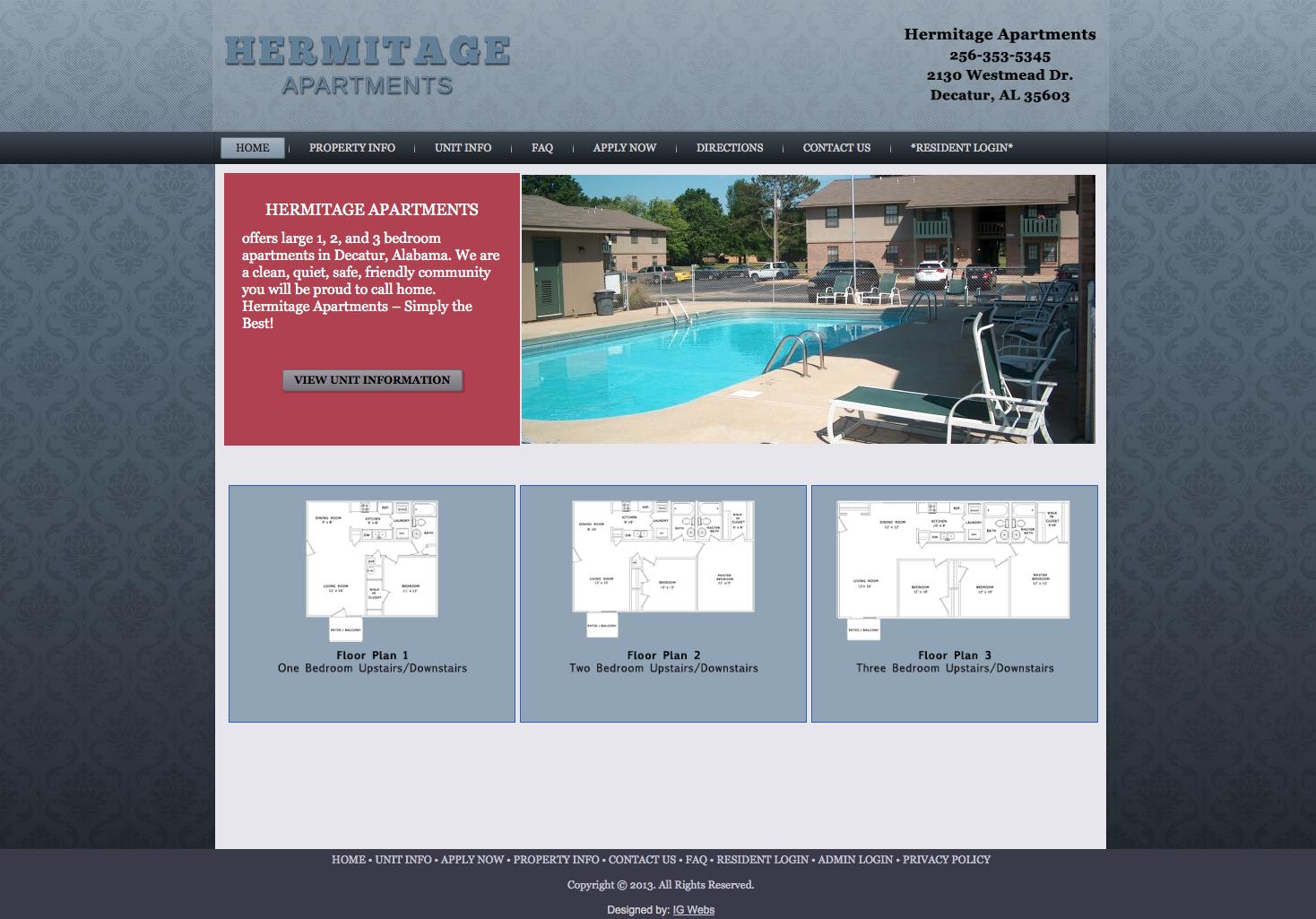 Hermitage Apartments in Decatur, AL