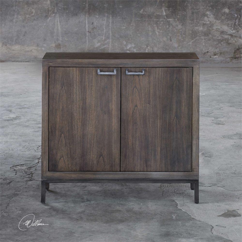 Uttermost nadie light walnut console cabinet 855