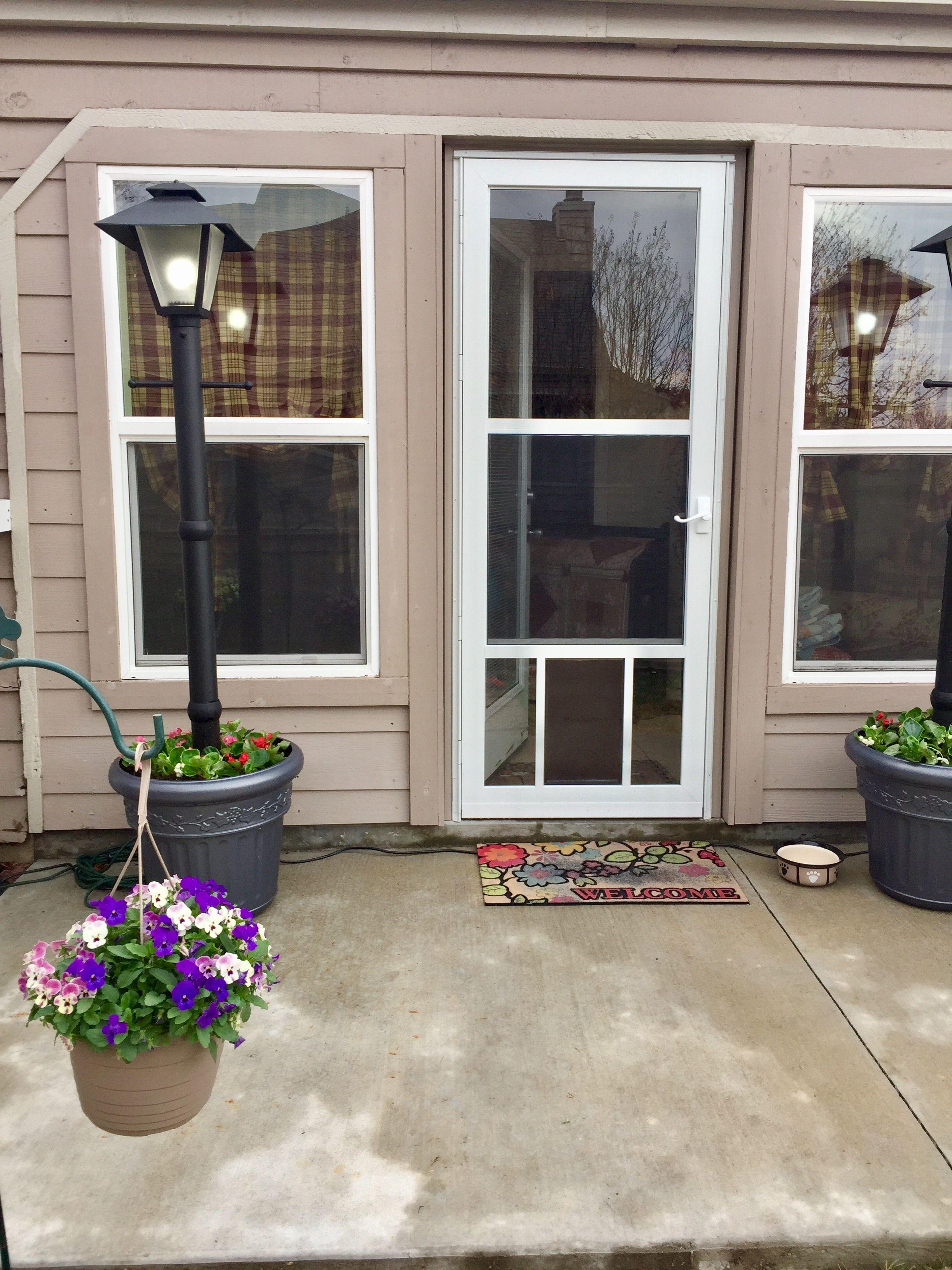 Our Beautiful New Storm Door Wa Much Needed Doggie Door Our Prim