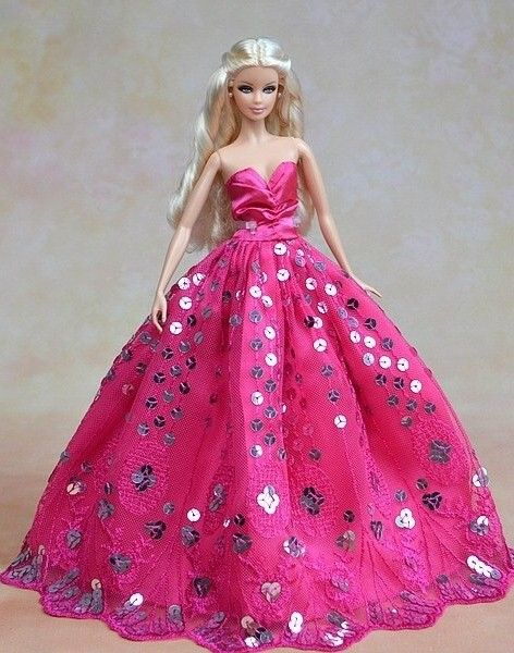 BArbie in Pink | Barbie Beautiful Pink Gowns | Pinterest