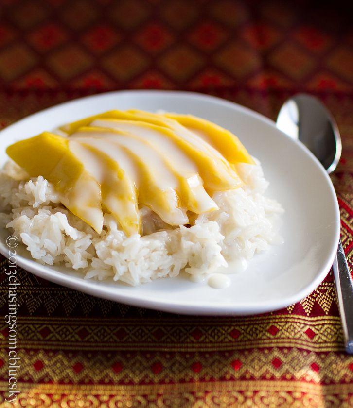 Sticky Rice w/ Mango | Asian desserts, How sweet eats, Food