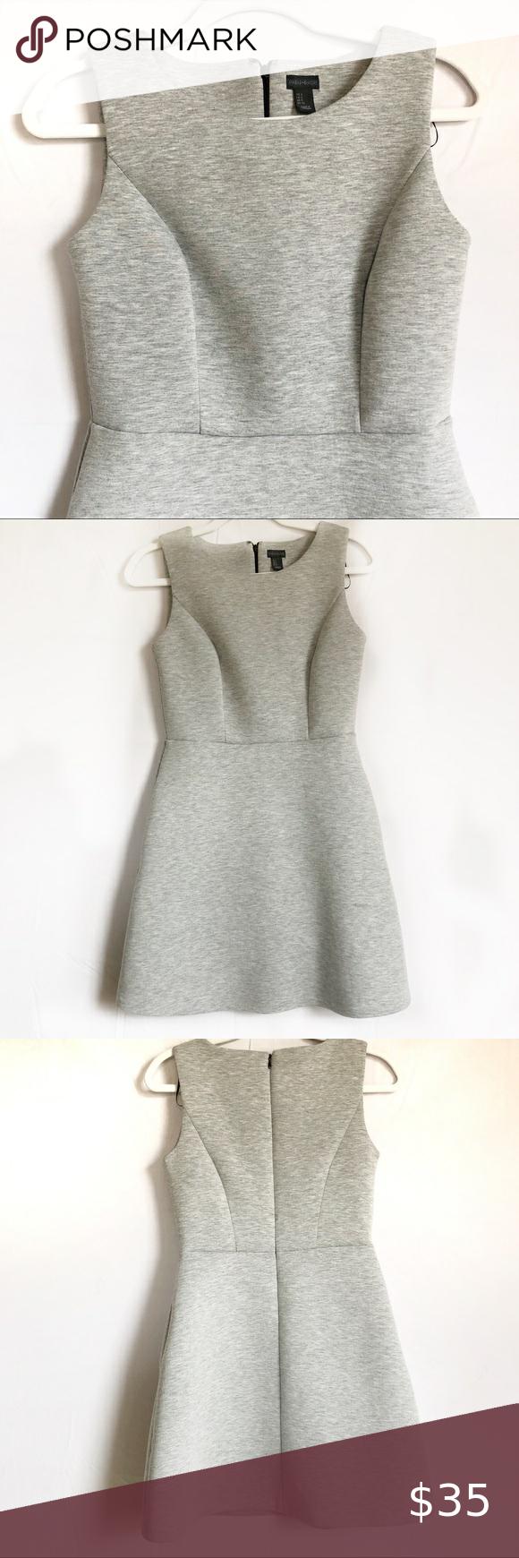 Paraphrase Scuba A Line Dres Size 2 Clothe Design Grey Dress