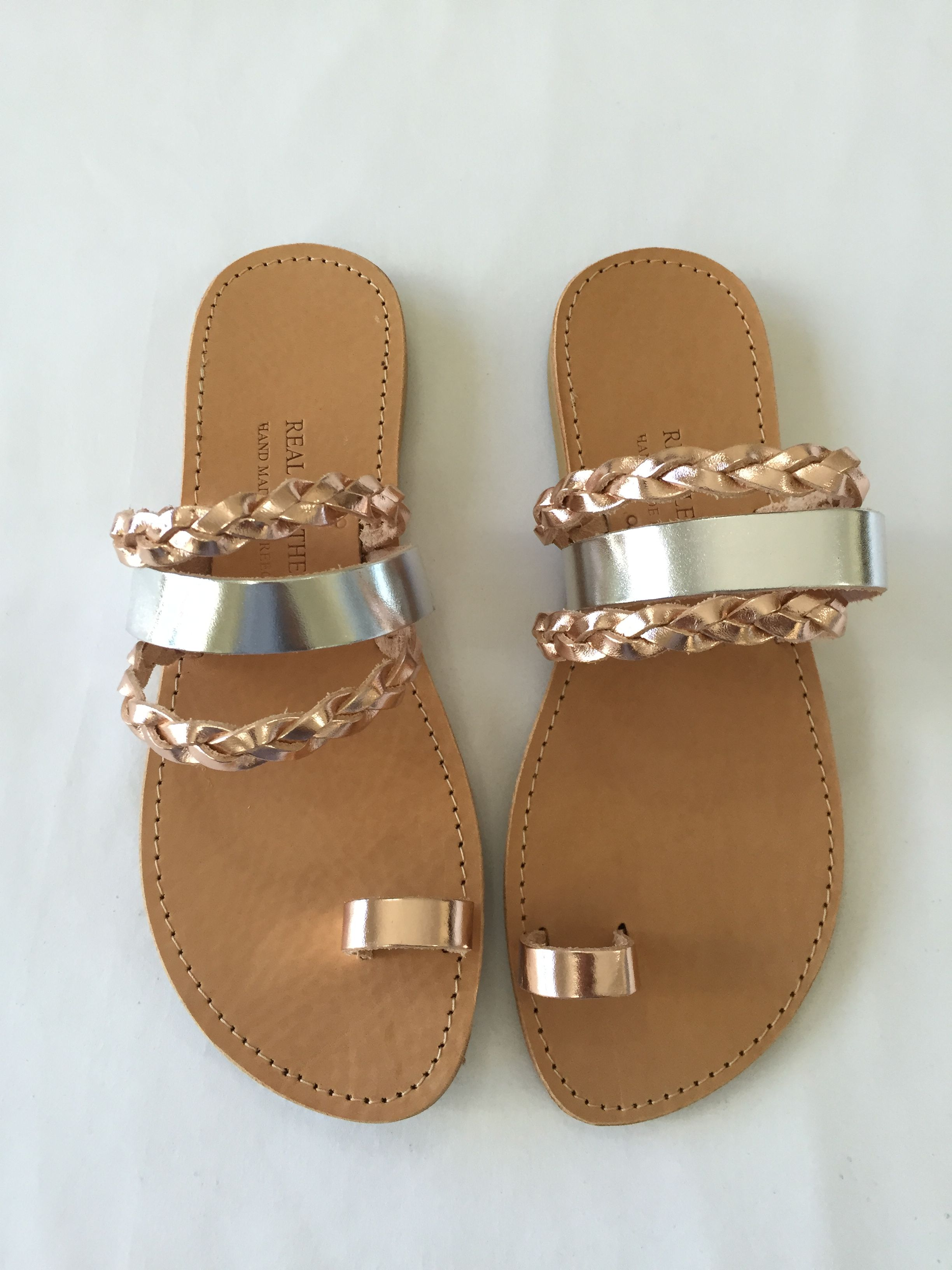 0bd1733bb75 Silver and rose gold Selene Sandals. Handmade with love in Greece ...