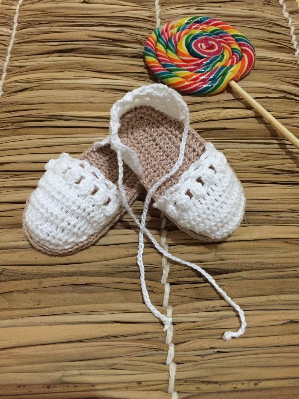 Alpargatas Vanessa - Pimentinha Crochê | Booties crochet and ...