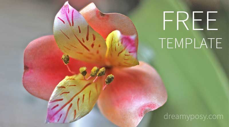 How to make peruvian lily paper flower free template so easy full youtube tutorial and free template included here to help you make paper flower so easy mightylinksfo