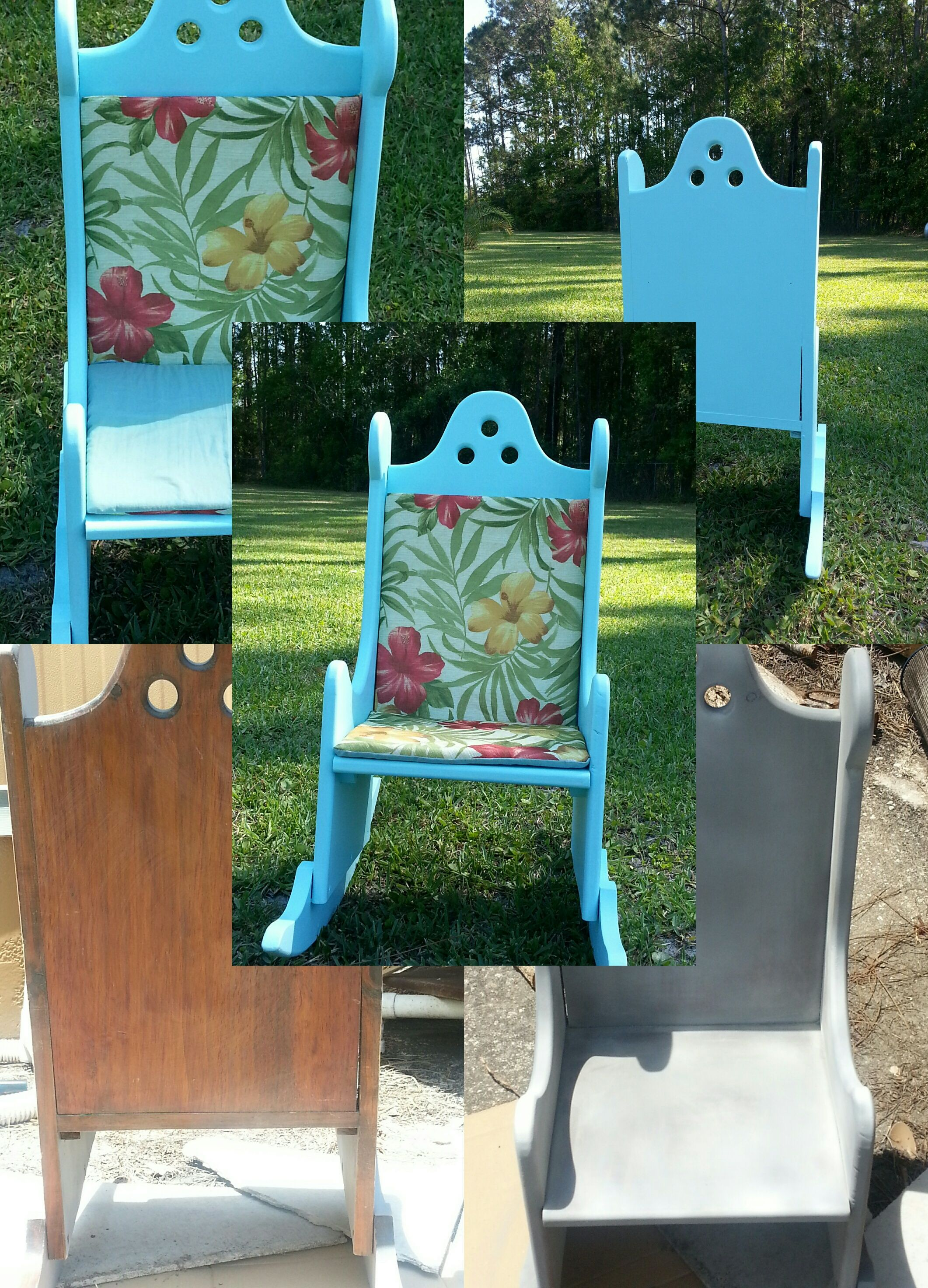 Revamped Vintage Childs Rocking chair