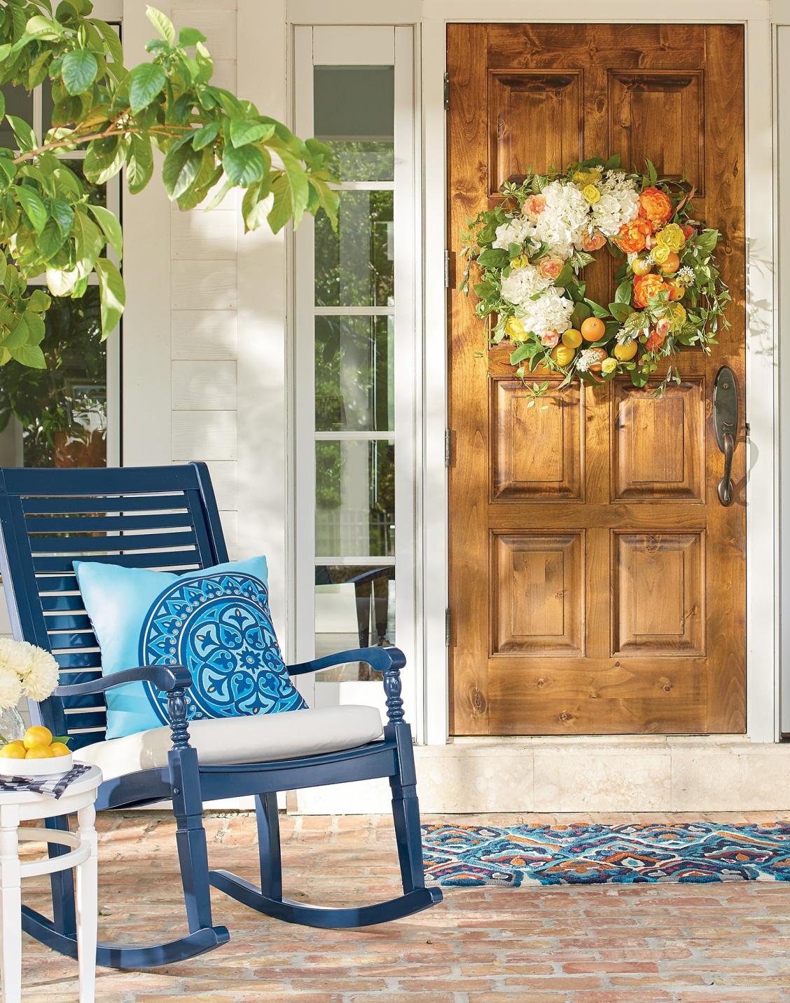 Maison Super Belle nantucket rocking chair in 2018 | wreaths or hanging arrangements