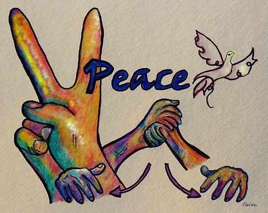 Peace By Eloiseart Sign Language Art Deaf Art Sketch Book