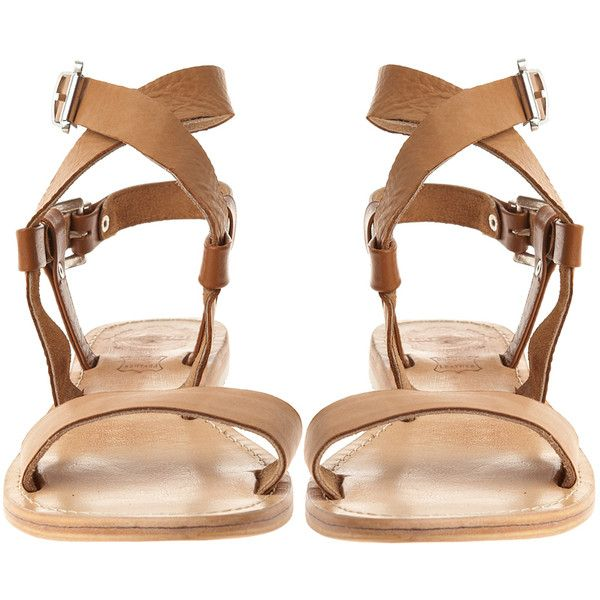 SOLSANA Avery Leather Sandal ($150) ❤ liked on Polyvore