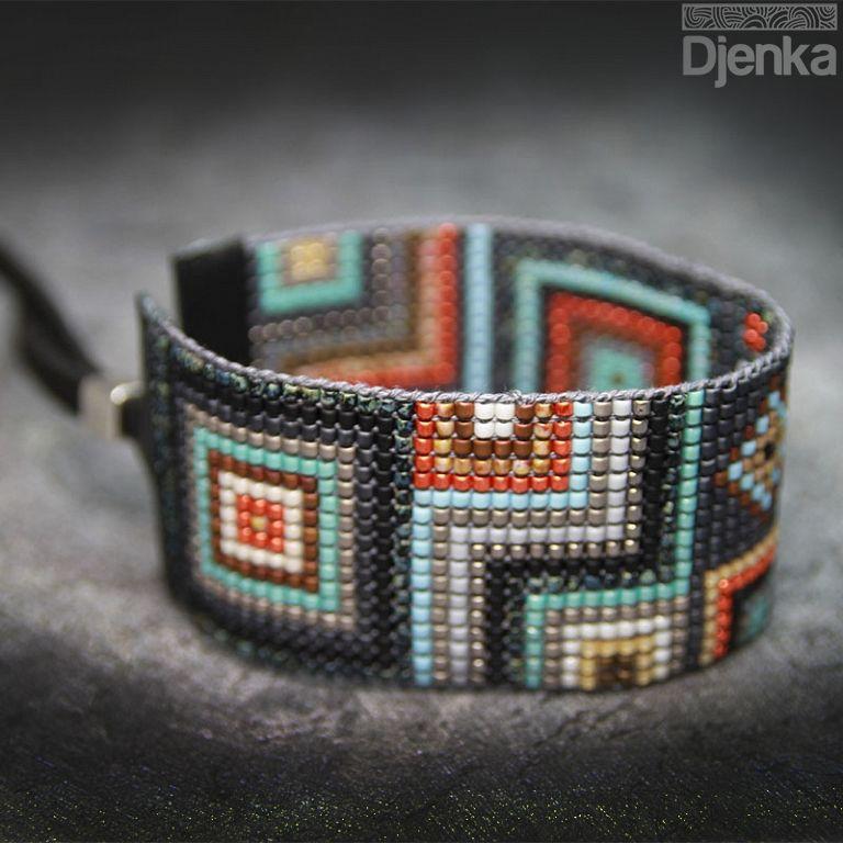 Bransoletka etniczna - beading - Buren - Djenka