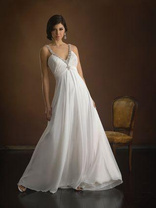 Greek Style Wedding Dresses Chiffon Wedding Dress Beach Column Wedding Dress