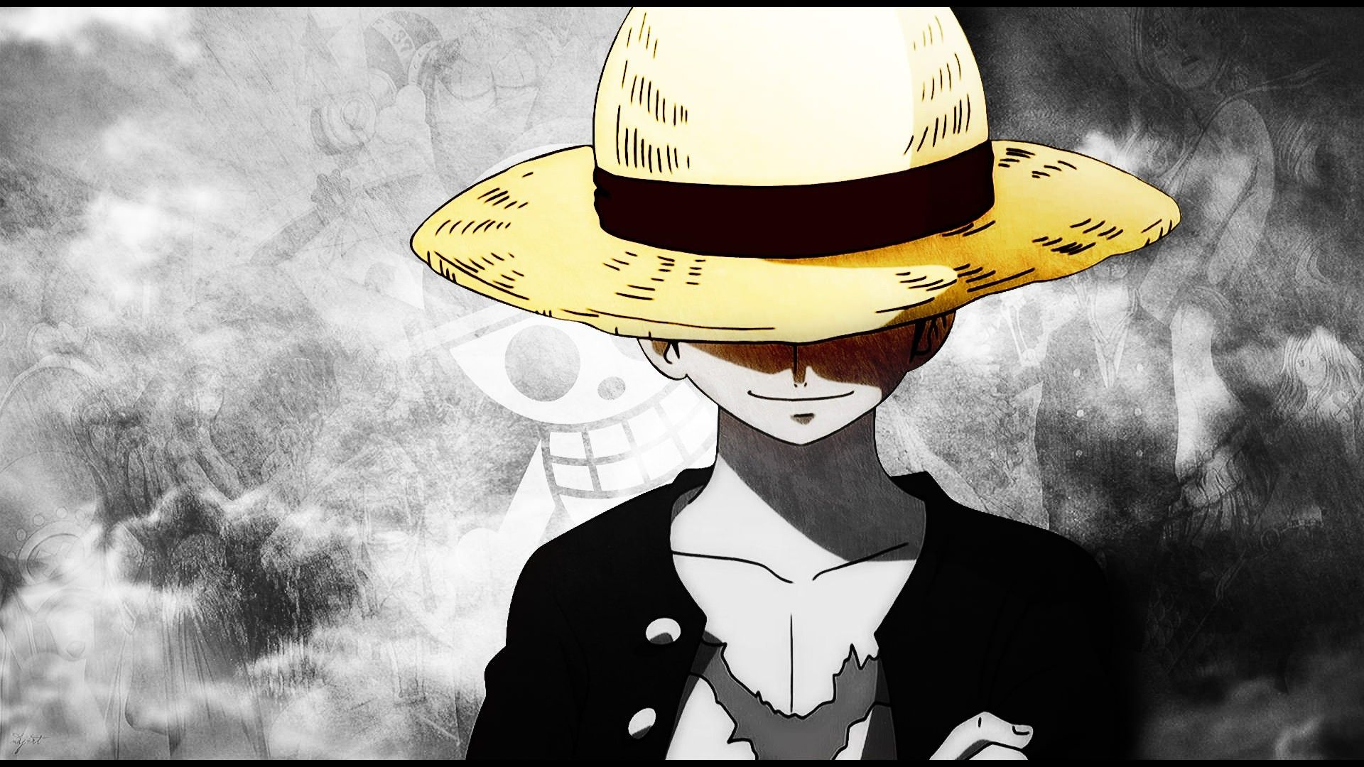 One Piece Luffy Wallpaper On Wallpaper 1080p Hd Anime Wallpaper 1920x1080 Monkey D Luffy One Piece Manga