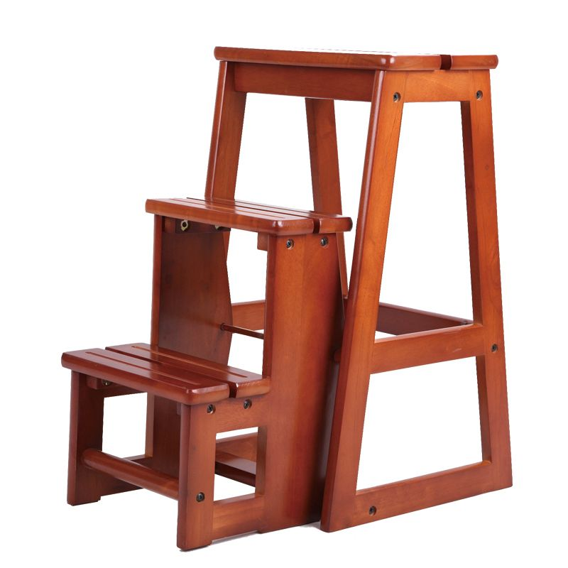 Modern Multi Functional Three Step Library Ladder Chair Library Furniture Folding Wooden Stool Chair Step Ladder Folding Wooden Stool Step Stool Wooden Stools