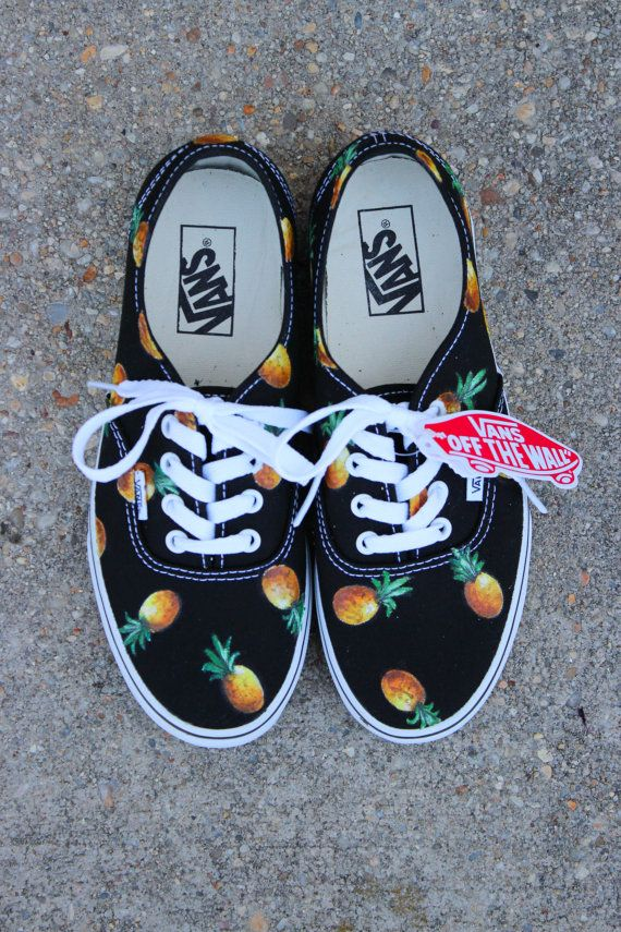 ed64e699eecf06 Pineapple VANS (fruit of your choice) from Sophiescustomshoes on Etsy