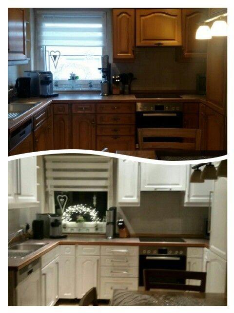 küche weiß streichen vorher nachher - wohnkultur idee