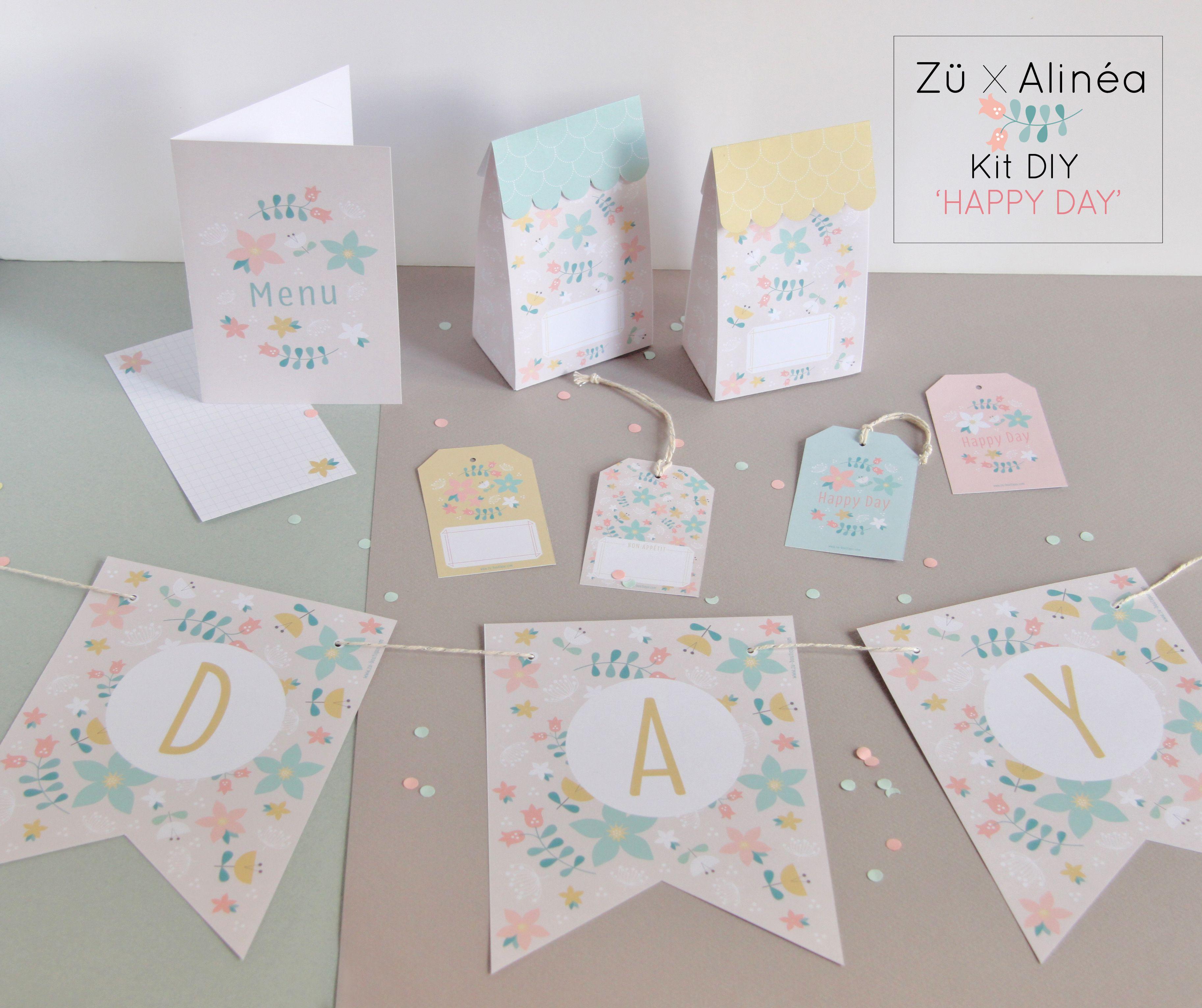 Zü X Alinéa Diy Spécial Table De Fête Printables